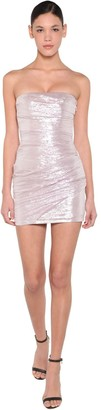 DSQUARED2 Silk Voile Lame Mini Dress