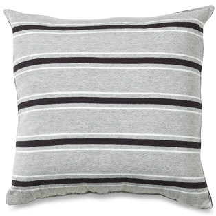 Nautica Glen Cove Black Stripe Square Toss Pillow