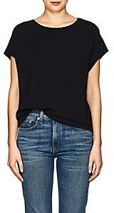 The Row Women's Idie Stretch-Cady Top - Black