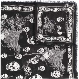 Alexander McQueen Eve and Skull scarf