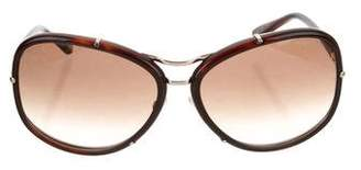 Tom Ford Gradient Aviator Sunglasses