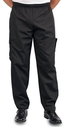 Kng Big Men's Black Cargo Style Chef Pant