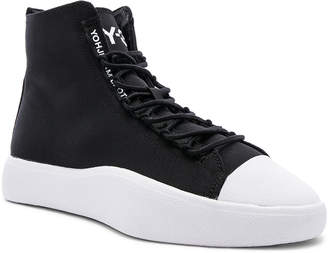 bca567098 Yohji Yamamoto Y 3 Y-3 Bashyo Hi-Top Sneaker in Core Black