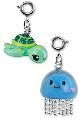 High Intencity CHARM IT!(R) 2-Pack Glitter Sea Turtle & Jellyfish Charms