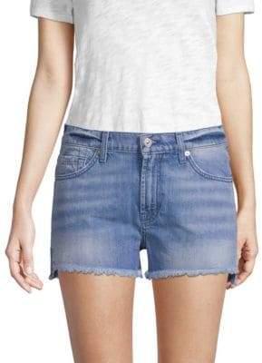 7 For All Mankind Cut Off Denim Shorts