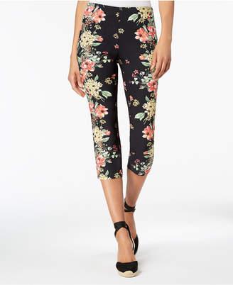 Charter Club Floral-Print Capri Pants