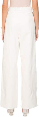 Givenchy Wide-Leg High-Waist Napa Leather Pants w/ Pleats