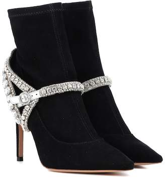 Sophia Webster Lorena stretch-suede ankle boots