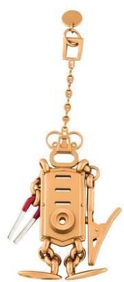 Prada Metallic Robot Keychain