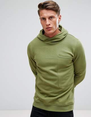Jack and Jones Core Hoodie With High Neck And Pocket Details