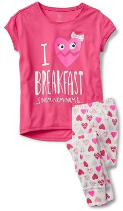Gap Heart Short Sleeve PJ Set