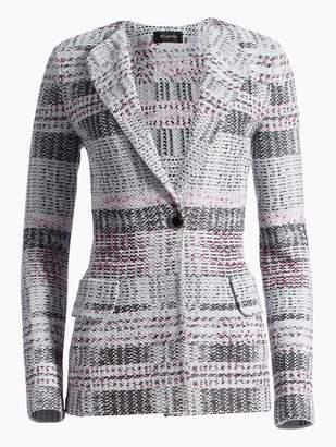 St. John Bianca Plaid Knit Jacket