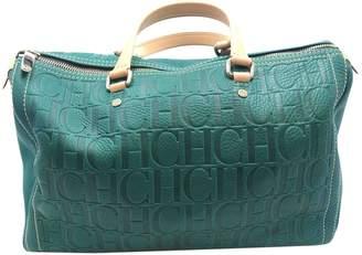 Carolina Herrera Green Leather Handbag