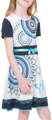 Desigual Crewneck Cotton Dress