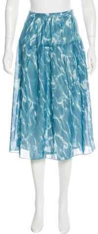 Akris PuntoAkris Punto Printed Midi Skirt