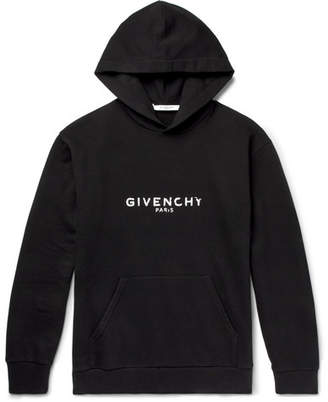 Givenchy Logo-Print Loopback Cotton-Jersey Hoodie - Men - Black