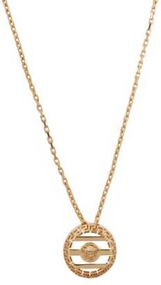 Versace - Medusa Cut Out Pendant Necklace - Mens - Gold