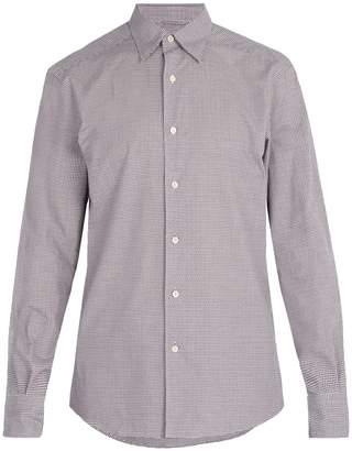 Ermenegildo Zegna Micro-gingham checked cotton shirt