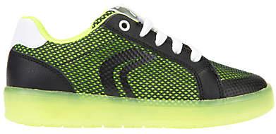 Children's J Kommodor Laced Shoes, Black/Lime