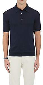 John Smedley Men's Cotton Polo Shirt - Navy