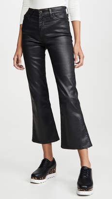 AG Jeans The Quinne Leatherette Light Cropped Jeans