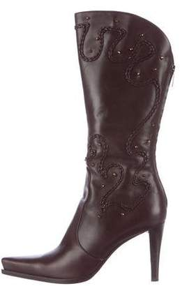 Sergio Rossi Embellished Mid-Calf Boots