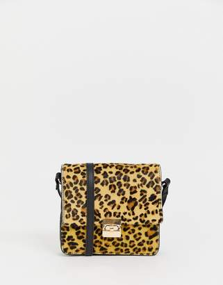 7d2c9d4b24 at ASOS Urban Code Urbancode cross body bag in leopard with chain strap