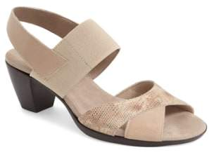 Munro American Darling Mixed Finish Slingback Sandal