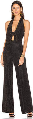 House of Harlow 1960 x REVOLVE Coco Jumpsuit Black & Gold in Black $218 thestylecure.com