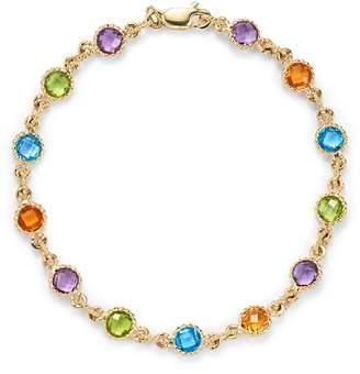 Bloomingdale's Gemstone Station Bracelet in 14K Yellow Gold - 100% Exclusive