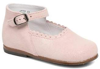 Little Mary Kids's Vocalise Strap Ballet Pumps in Pink