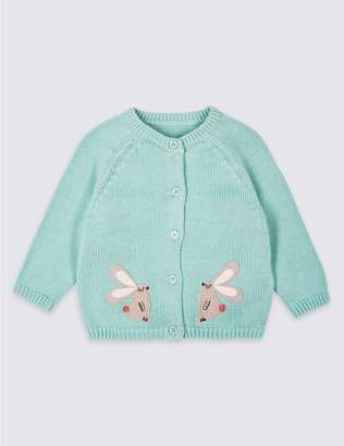 Marks and Spencer Pure Cotton Applique Cardigan