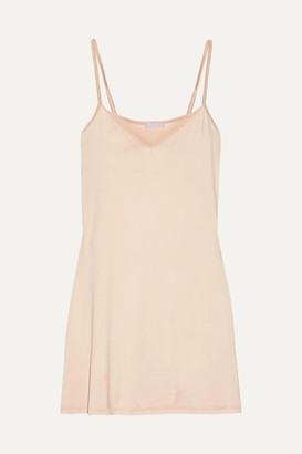 Hanro Deluxe Stretch-satin Slip - Neutral