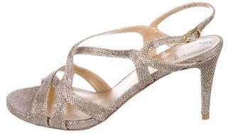 Stuart Weitzman Glitter Slingback Sandals