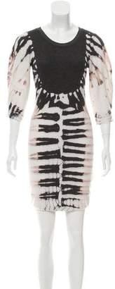 Raquel Allegra Tie-Die Knit Dress