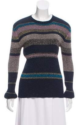 Bella Freud Rib Knit Metallic Sweater