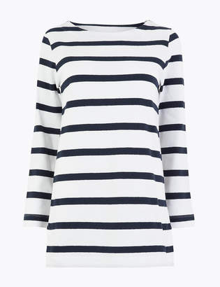 M&S CollectionMarks and Spencer Cotton Longline Striped Cornwall Tunic
