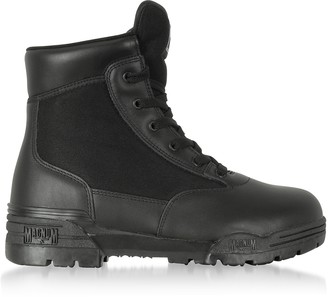 Hi-Tec Magnum 6 Classic Black Mesh and Leather Unisex Boots