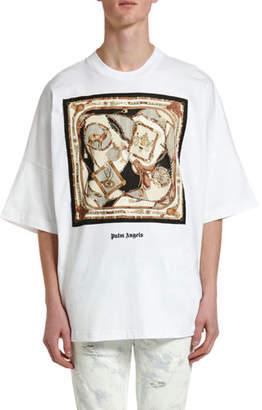 Palm Angels Men's Foulard Oversized Graphic T-Shirt
