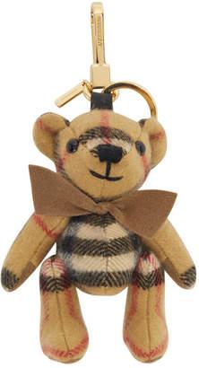 Burberry Yellow Cashmere Vintage Check Thomas Bear Keychain