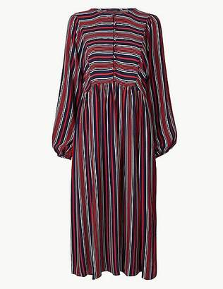 Marks and Spencer Striped Relaxed Midi Dress