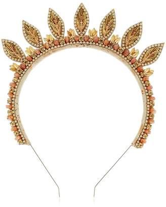 Deepa Gurnani Leaves Embellished Headband