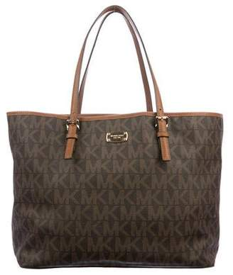 MICHAEL Michael Kors Leather-Trimmed Monogram Tote