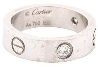 Cartier 3 Diamond LOVE Ring