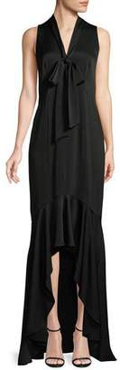 Shoshanna Mayburn Sleeveless High-Low Gown