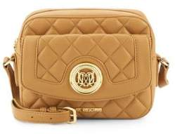 Love MoschinoQuilted Faux Leather Crossbody Bag