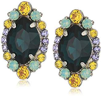 Sorrelli Women's Washed Waterfront Adorned Navette Cluster Stud Earrings