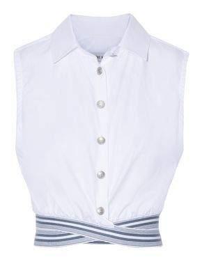 Pierre Balmain Cropped Cotton-Twill Top
