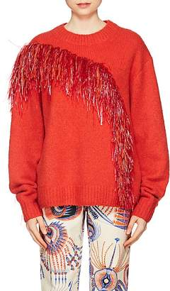 Dries Van Noten Women's Fringe-Trimmed Merino Wool-Blend Sweater