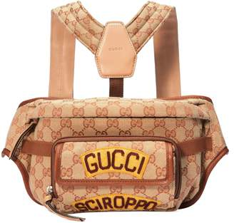 Gucci Children's GG belt bag with patches